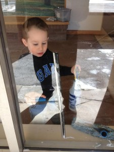 window cleaning kid