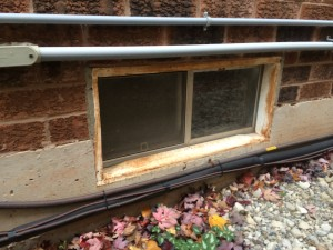 basement window cleaning